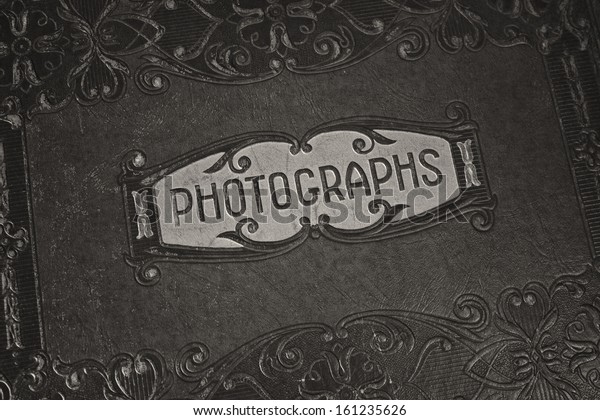 Old Black White Photograph Album Wonderful Stock Photo Edit