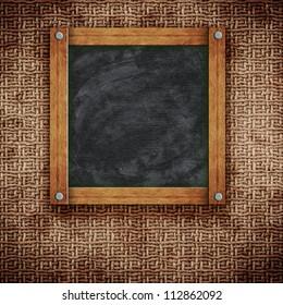 old blackboard on wall in vintage interior