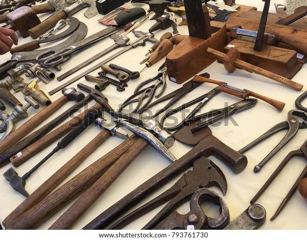 Old Blacksmith Tools Stock Photo (Edit Now) 793761730