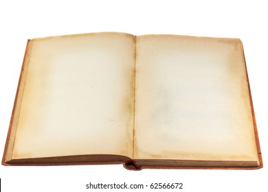 Old blank book isolated on white