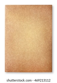 Old blank brown paper sheets isolated on white background