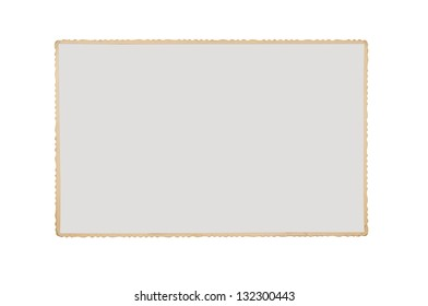 Old blank grunge photograph isolated on white background with clipping path for the inside of the frame