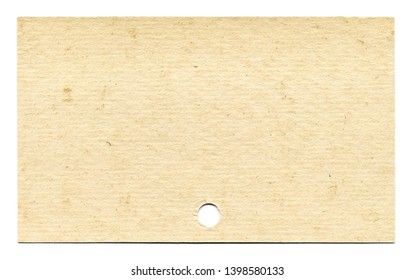 Old blank index card in high resolution isolated on white background