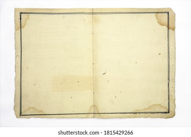 old blank paper isolated on white