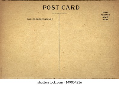 Old Blank Post Card