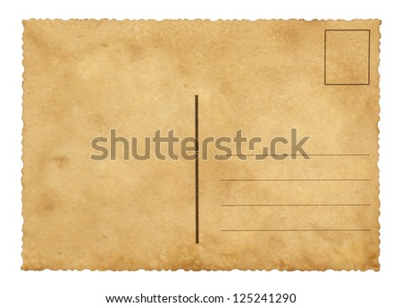 old blank postcard stock photo edit now 125241290 shutterstock