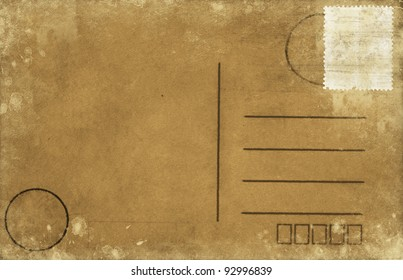 old blank postcard ,retro style
