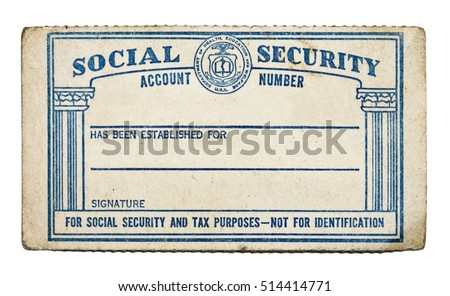Old Stock Security Social - edit 514414771 Shutterstock Photo Isolated Blank Card Now