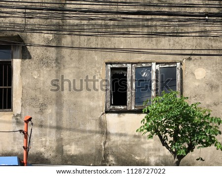 Swell Old Block House Cement Wall Rustic Stock Photo Edit Now 1128727022 Wiring 101 Nizathateforg