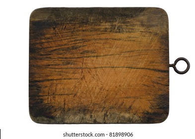 old block wood in kitchen isolated