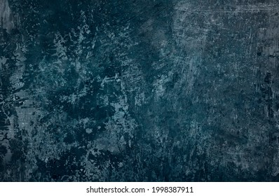 Old blue corroded metal grunge background or texture