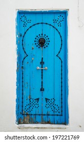 Old Blue door with from Sidi Bou Said in Tunisia. Large resolution