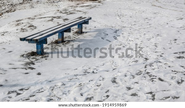 old-blue-snowcovered-bench-shadow-600w-1