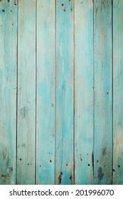 Old blue wood plank background. Vintage style