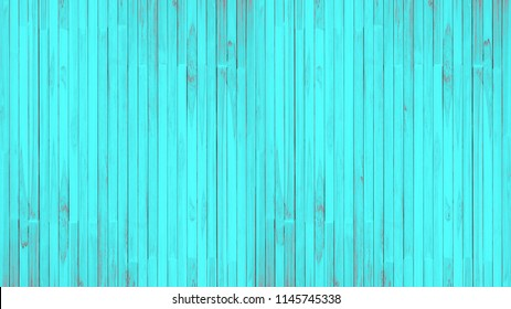 Old blue wood wall texture and background.