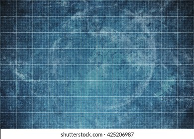 old blueprint background texture. Technical backdrop paper. Concept Technical / Industrial / Business / Engineering