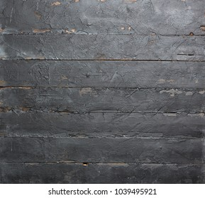 Old boards painted by black paint. Backround
