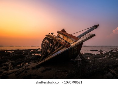 Old boat collapsed.