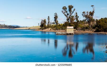 Old boat jetty found on Bruny Island in Tasmania, Australia.