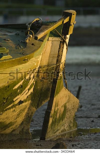 old boat rudder