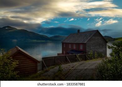 Old boathouse along the coast of Norway.