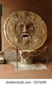 the old bocca della verita in a rome church
