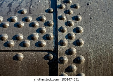 old boiler with rivets close to