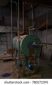 Old Boiler room beauty in dirty old basement