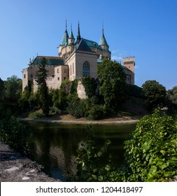 The old Bojnice Castle in Slovakia on a warm summer's day