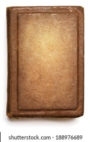 Old book cover, blank texture empty grunge design on white background