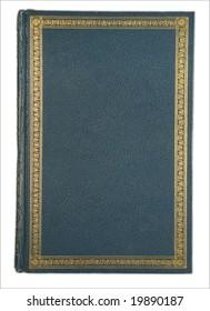 Old book gold border blank center