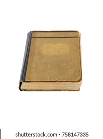 Old book isolated on a white background. Book cover.