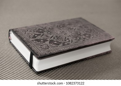 old book with leather cover