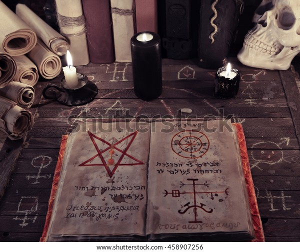 Old Book Magic Spells Occult Esoteric Stock Photo (Edit Now