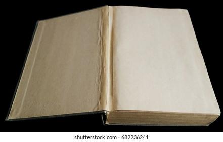 Old book on black background 1