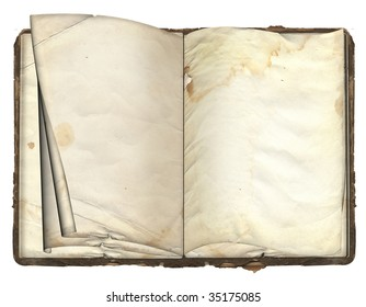 The old book on the isolated white background