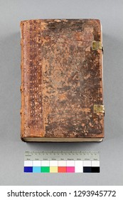 Old book on neutral background