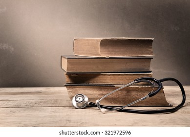 Old Book and Stethoscope
