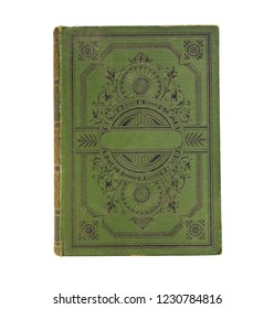 old book vintage book cover isolated on white background