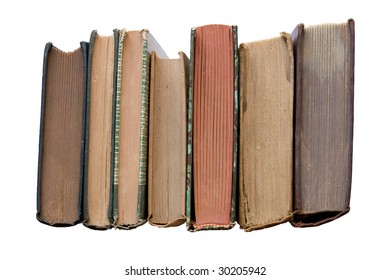 Old Books with Clipping Path