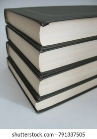 Old books in hard cover.