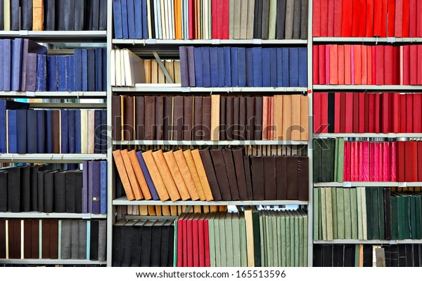 Old books and journals in library