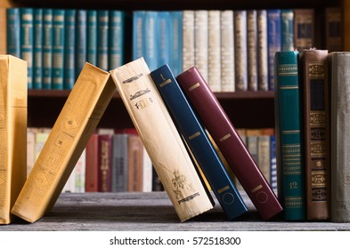 Old books in the Library .