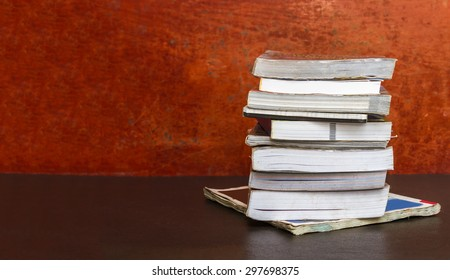 Old books on background.