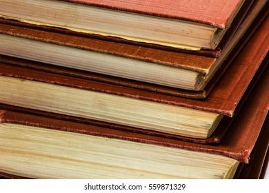 Old Books on white