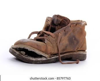 a0ca2f1d0da3 Old boot over white