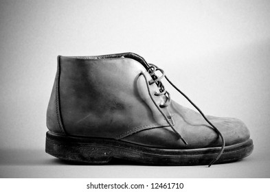 Old Boot series - softer lighting black and white