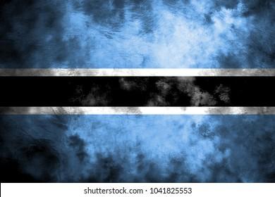 Old Botswana grunge background flag