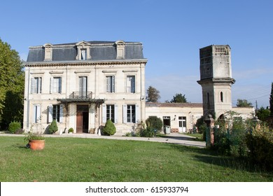 An old bourgeois house in Europe with a dovecote