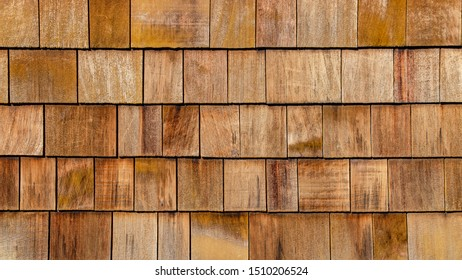 old bown rustic weathered wooden texture - wood Background shingles